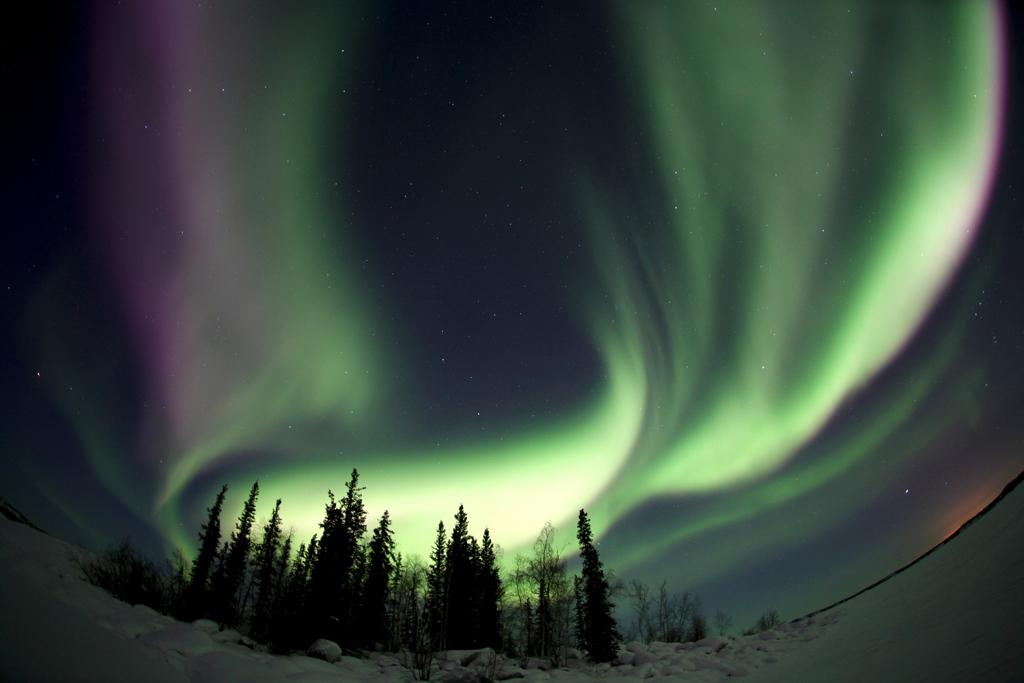 Photo d'aurores boréales