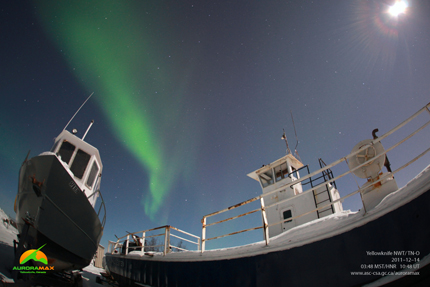 Photo of auroras from Yellowknife
