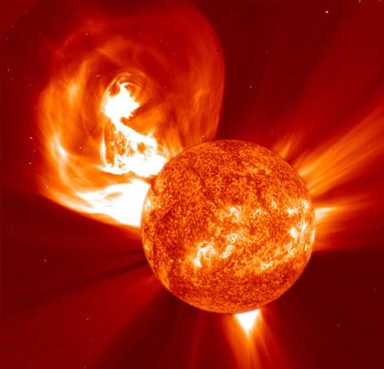 Image of solar eruptions