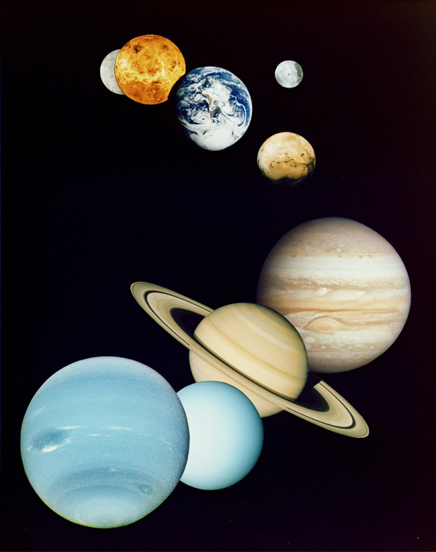 the eight planets of the Solar System