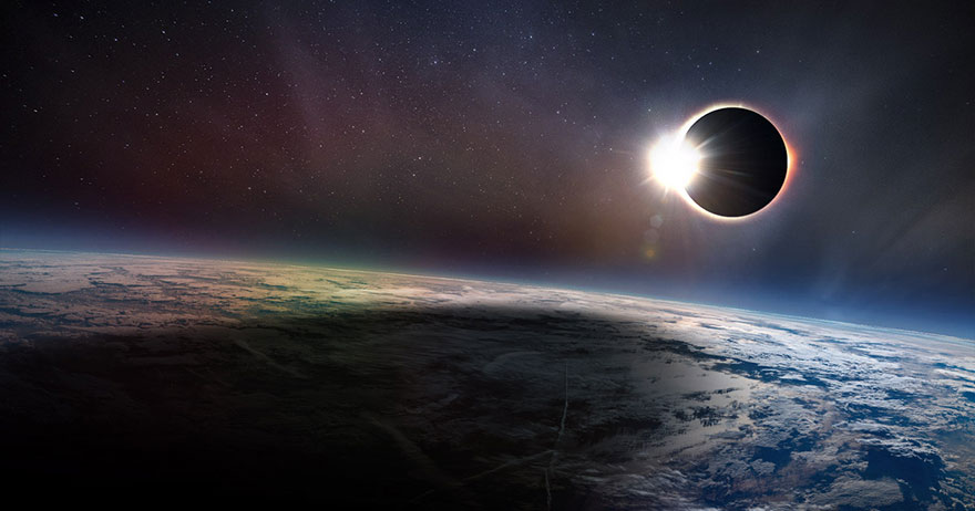 Artist S Rendition Of A Total Solar Eclipse Credit Csa