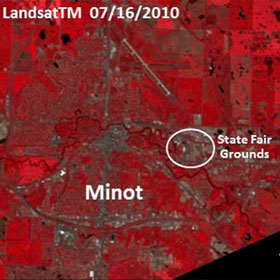 Comparison of Minot, N.D. and Souris River Valley