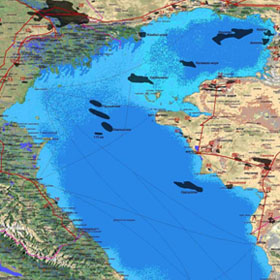Oil pollution in the northern part of the Caspian Sea