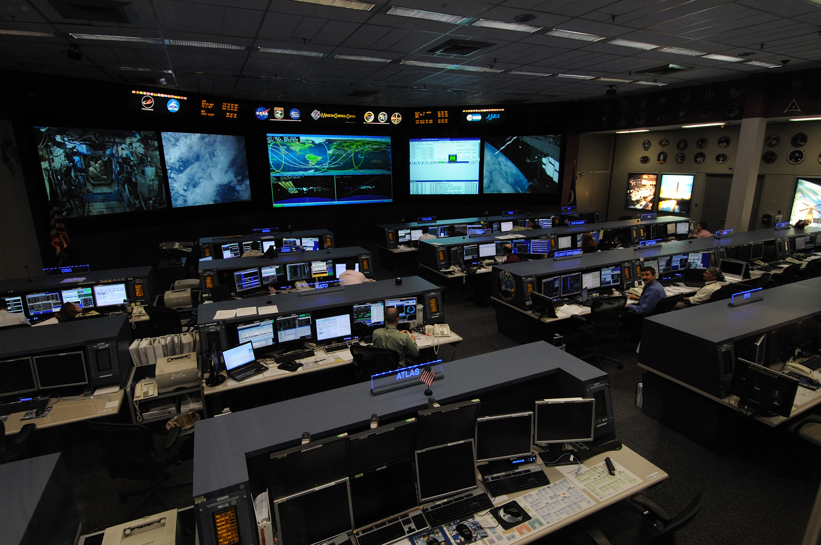 NASA's International Space Station Mission Control Center in Houston, Texas