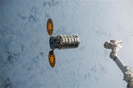 Cygnus departing the International Space Station
