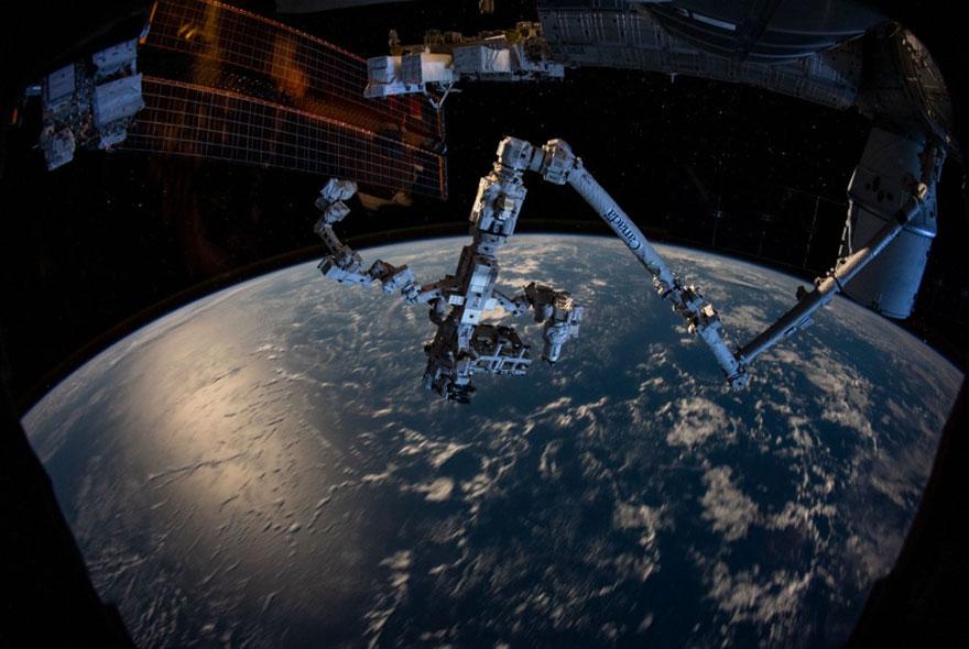 Braço robótico da Estação Espacial Internacional (ISS)