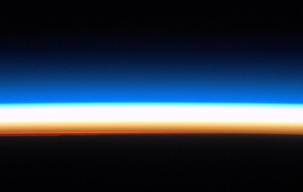 Earth's horizon, just before sunrise
