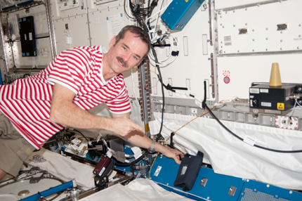 Hadfield points to a neutron bubble detector
