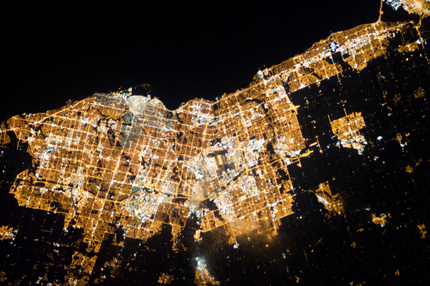 A view of Toronto from space