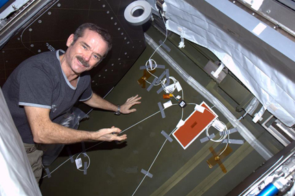 Chris Hadfield installed ultrasonic sensors