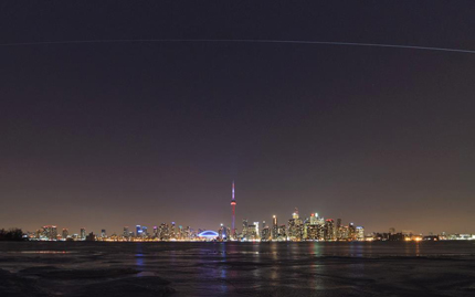 Photo of the Space Station over Toronto