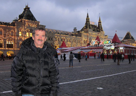 Chris on Moscow's Red Square