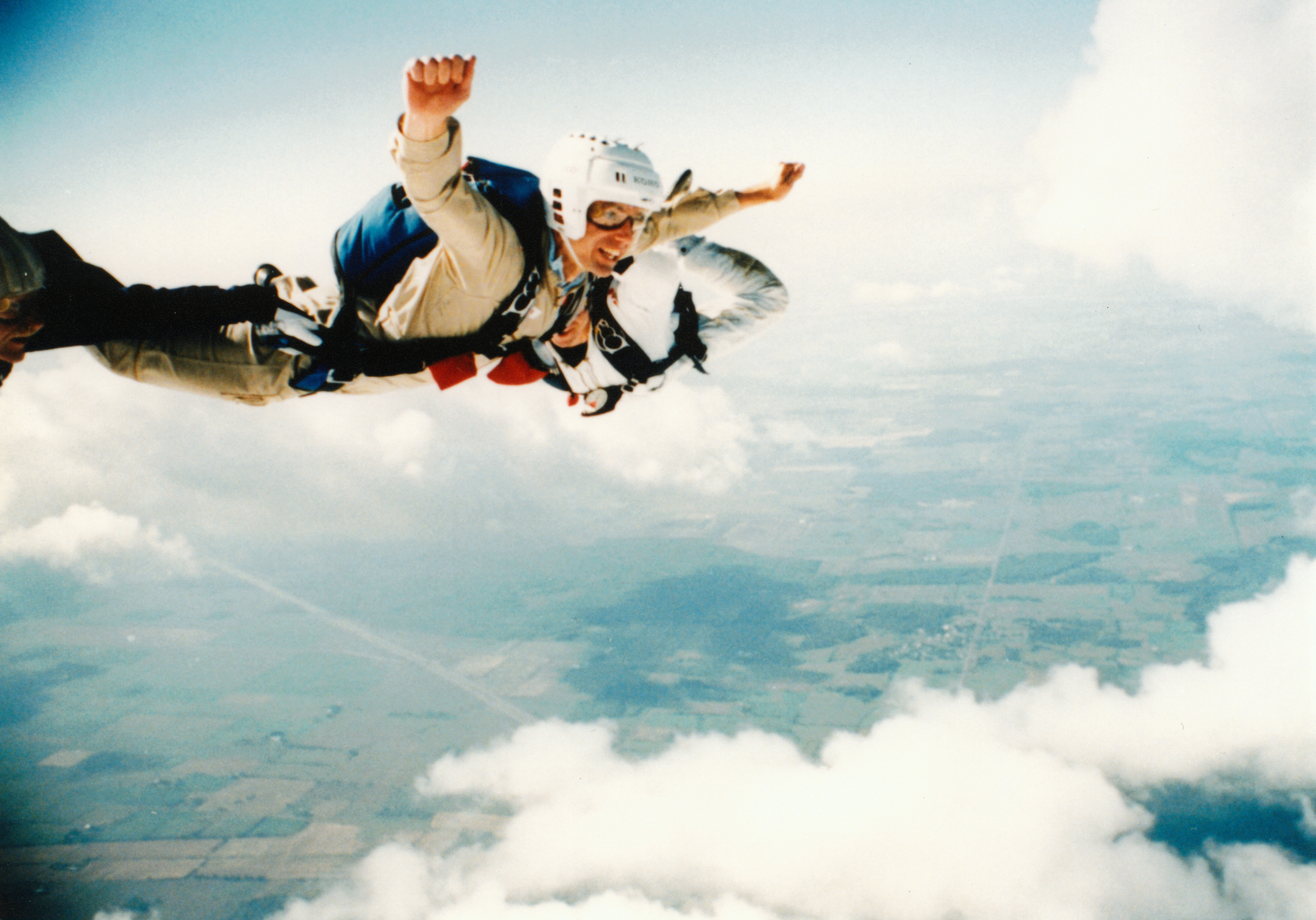 Astronaut Bob Thirsk during parachute training - Canadian ...