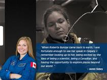 Quote from Canadian Space Agency Astronaut Jennifer Sidey
