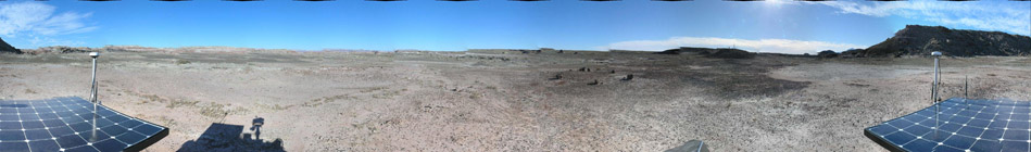 Analogue Mars Mission: Post-landing panorama