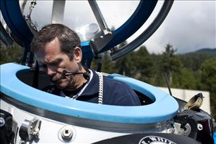 Chris Hadfield training in DeepWorker