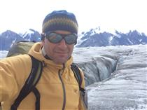 David Saint-Jacques on a Glaciology expedition in the Kaskawulsh Glacier, Yukon