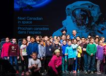 Children at the Event to Announce the Next Canadian to Fly to the International Space Station