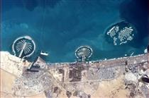 The islands of Dubai seen from the ISS