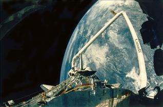 The Canadarm Deploys Hubble