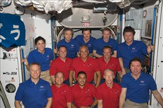 The Expedition 20 and STS-128 crewmembers