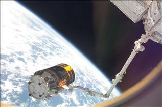 Canadarm2 Grapples the HTV