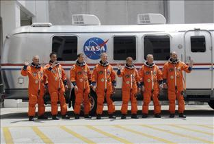 The STS-127 crew members