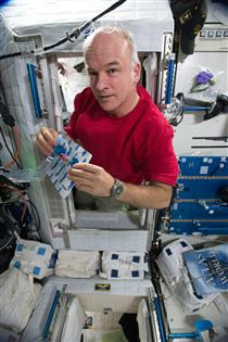 Jeff Williams collects a breath sample for MARROW
