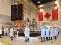 First RCM satellite being prepared for thermal vacuum testing