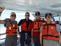 The crew of NEEMO 19 going for their first training dive