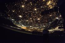 Europe at nighttime