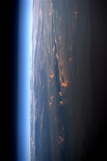 Sunset over Earth