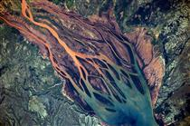 Betsiboka River in Madagascar as seen from space