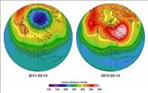 The first ozone hole over Canada