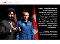 David Saint-Jacques sera le prochain Canadien à s'envoler vers la Station spatiale internationale
