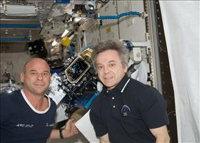 CSA Astronaut Bob Thirsk and Guy Laliberté