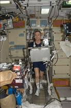 CSA Astronaut Bob Thirsk Works Out on TVIS