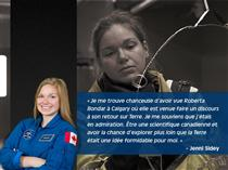 Citation de l'astronaute de l'Agence spatiale canadienne Jennifer Sidey