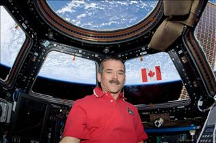 The Canadian Flag in Orbit