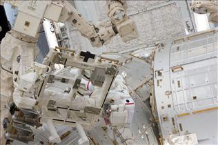 Maintenance Work on Dextre