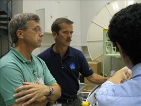 Robert Thirsk and Chris Hadfield training in Japan