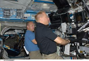 Astronauts Tim Kopra and Doug Hurley