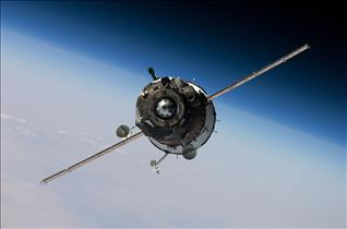 Russian Soyuz TMA-16 nears the International Space Station