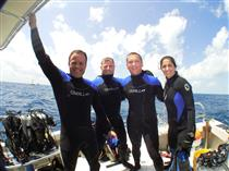 NEEMO 9 - Dave Williams with his fellow crew members