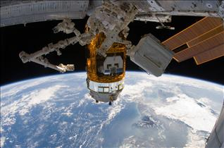 Canadarm2 in pre-grapple position