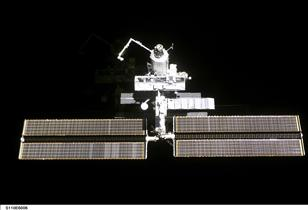 International Space Station (ISS) and the first segment of the central truss