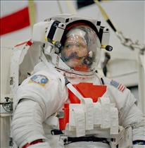Astronaut Chris Hadfield during training for STS-100