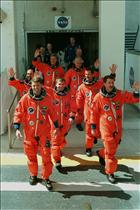 Mission STS-100 Crew Walkout