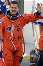 Chris Hadfield prior to the launch of STS-100