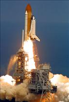 Launch of Endeavour on mission STS-100